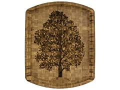 Totally Bamboo Cutting & Carving Board with Laser Etched Family Tree
