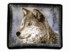 Hi Pile Printed 60x80 Throw-Snowy Wolf