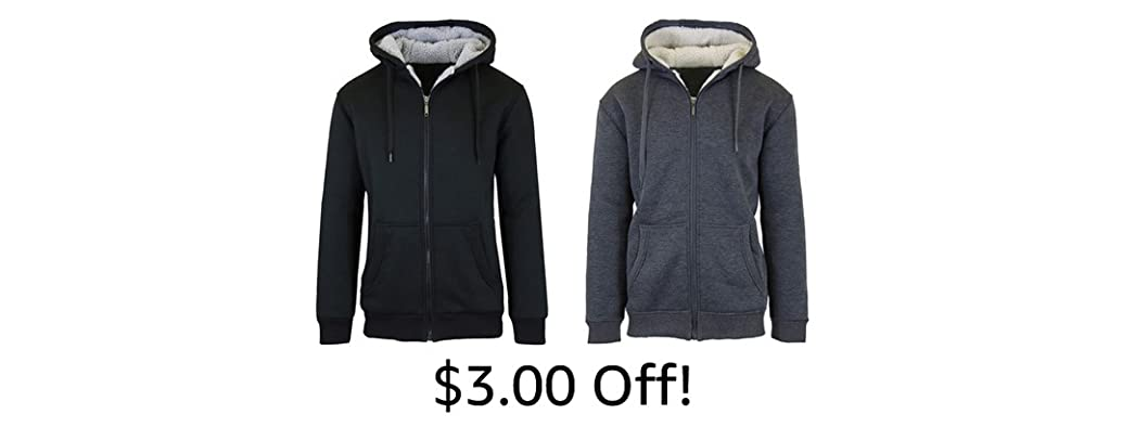 Sherpa Lined Fleece Hoodies 2-Pack