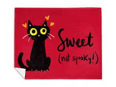 Black Cats Are The Sweetest Mink Fleece Blanket