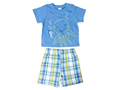 Cutie Pie Baby Octopus 2-Pc Short Set