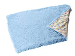 Shaggy Blue Reversible Throw