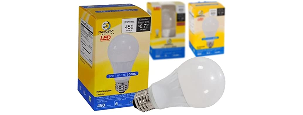 12-Pack LED A-19 Lightbulbs - Your Choice