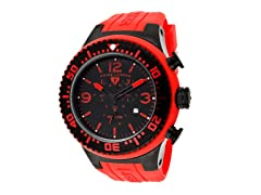 Men's Neptune Chronograph, Black / Red