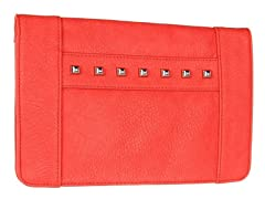BCBG Studded Clutch, Flamingo