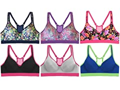 EAG Women's Floral Sports Bras-6 Pack