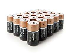 D CopperTop Alkaline Batteries - 20 Pack