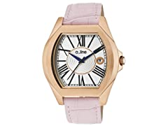 a_line Adore Silver Dial, Pink Band