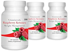 Vitaminerals Raspberry Ketones, 180ct