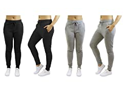 Women's Fleece Sweatpants 2-Pack