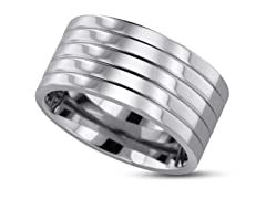 Polished Grooved Titanium Ring