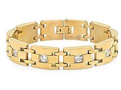 18kt Plated Link Bracelet w/ CZ
