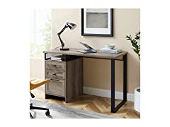 Modern Metal and Wood 3 Drawer Desk