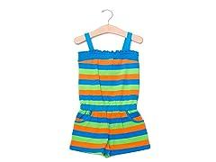 Blue/Green/Orange Knit Romper (2T-4T)