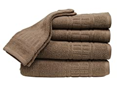 Zero Twist Quick Dry 6Pc Set-Mocha