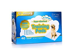 "All-Absorb XL Training Pads 28"" x 34"", 40-count"