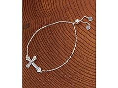 SterlingSilver Adjustable Cross Bracelet