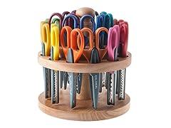 ECR4Kids 18-Pack Edger Scissors w/ Rack