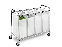 Honey-Can-Do Quad Rolling Laundry Sorter/Hamper