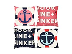 Nautical Anchor Pillow Covers