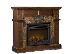 Cartwright Espresso Electric Fireplace