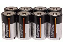 Energizer MAX D Alkaline Batteries, 8-Pack