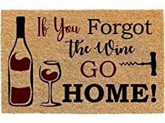 Printed Coir Welcome Mat, If You Forgot the Wine