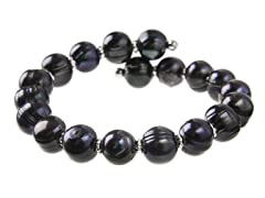 Black Freshwater Pearl Bangle