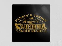 """Pannin' & Tannin' 12"""" x 12"""" Metal Poster"""