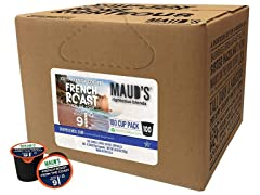 Maud's French Roast Coffee, 200-Count Coffee Pods
