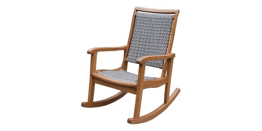 All-Weather Wicker Rocking Chairs - Tools & Garden