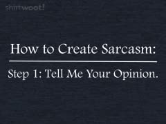 Step 2: More Sarcasm