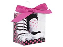 Baby Deer 2-Pk Sock - Dot/ Zebra
