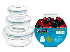 Glasslock Round 6pc Set