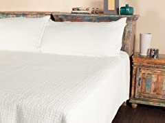 Metro Mini Quilt Set - White - 2 Sizes