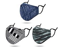 MOONSTEPS 3 Pack Printed Face Masks