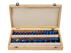 Multi-Purpose 24-Piece Router Bit Set