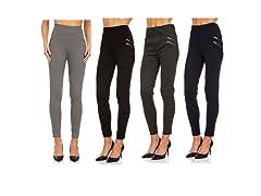 Women's Double Zipper Ponte Pants