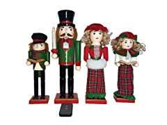 "Santa's Workshop 14"" LED Dickens Caroler Nutcracker Set"