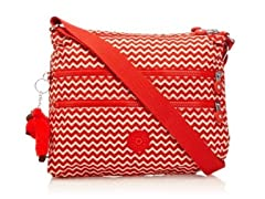 Kipling Alvar Crossbody Travel Bag, Chevron Red
