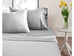 Chateau Home T500 Cotton Stripe Sheets