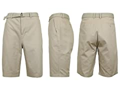 Men's Cotton Chino Shorts with Belt