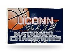 UConn NCAA Champs 3' x 5' Banner Flag