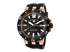 Challenger Watch, Black / Gold / Black