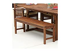 Walker Edison Wood Dining Bench