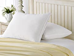 2 Pack Gusseted Firm Density Pillow