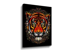"""Patternal Tiger"" Canvas"