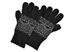 MUK LUKS® Men's Gloves w Texting, Black
