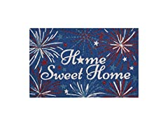 HOME SWEET HOME FIREWORKS BLUE MAT