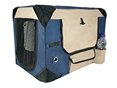 Deluxe Soft Crate with Bag, Large - Blue